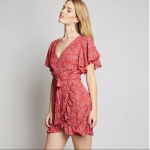 BB Dakota- Instant Enchantment Faux Wrap Dress